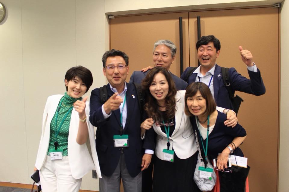 渡辺敦子さん議員会館で講演の応援