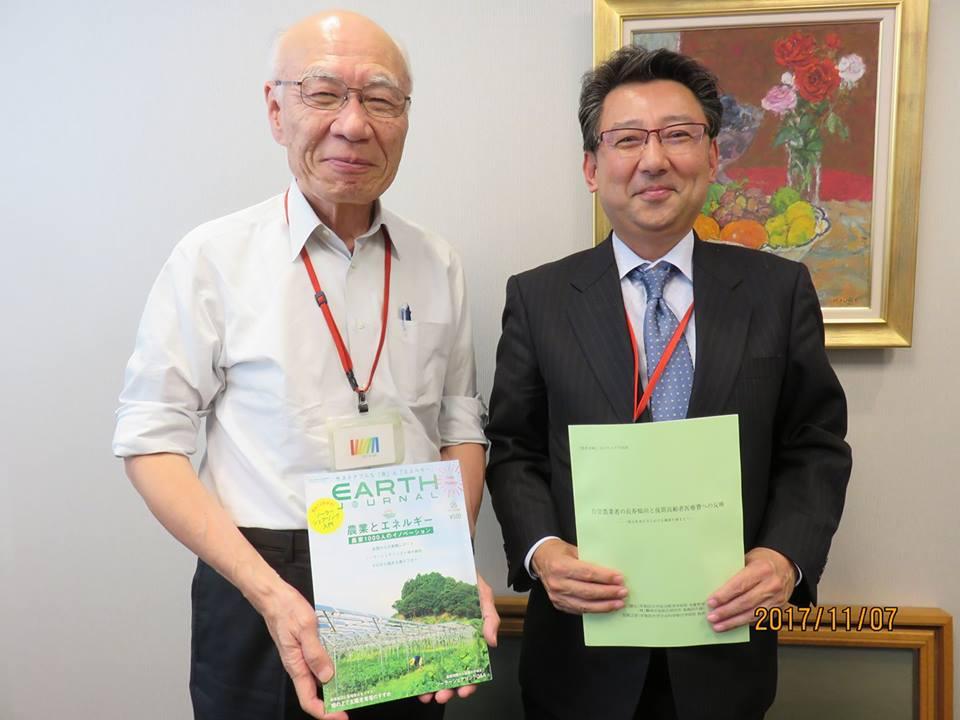 11月 日本農業経営大学校 堀口校長先生と