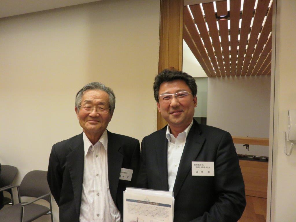 6月 筑波大学名誉教授 熊崎實先生とバイオマスについて懇談
