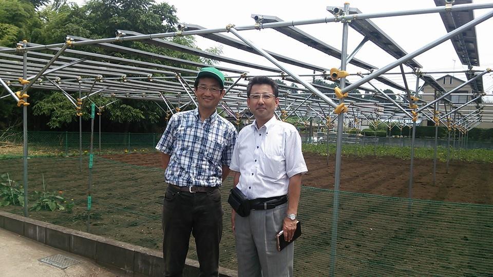 柚山氏と「ソーラーシェアリング縁ga環」