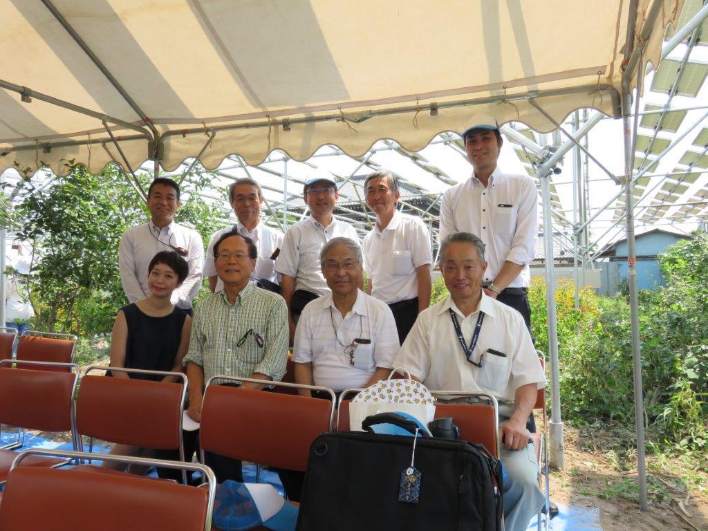 8月ソーラーシェアリングしろい富塚の完成披露会