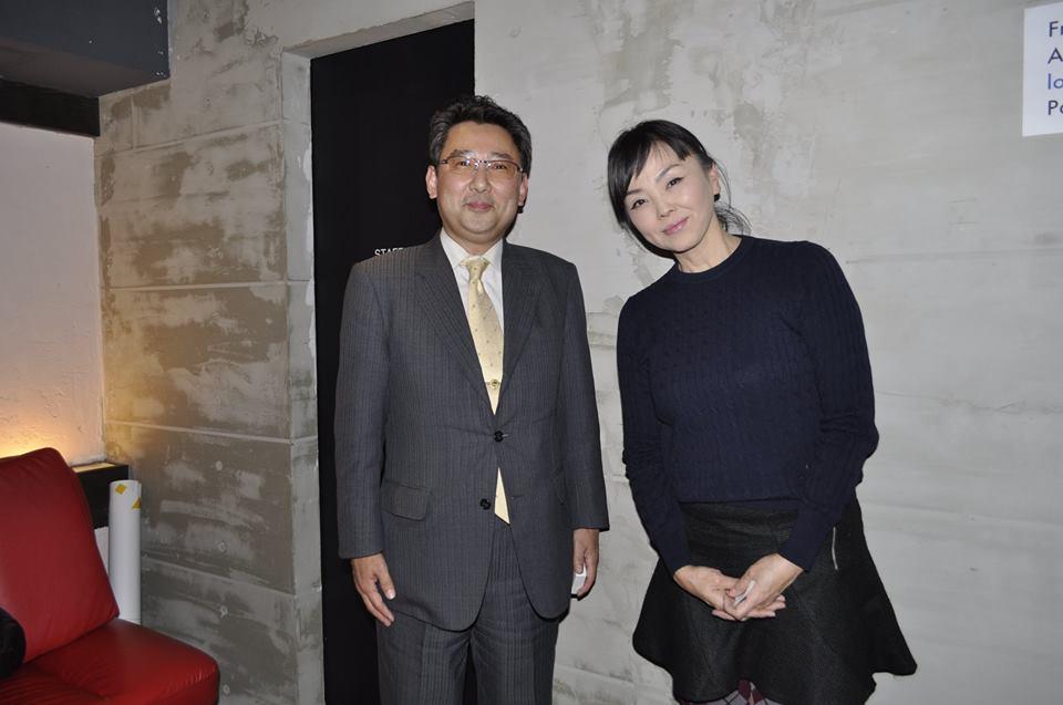 12月 アースデイ東京にて、松田美由紀さんと撮影